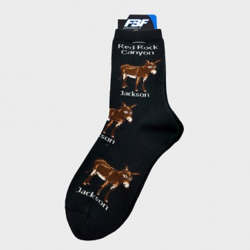 Socks Jackson the Burro Adult Black