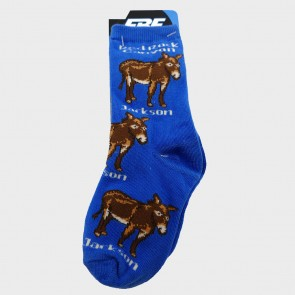 Sock Jackson the Burro Youth Blue