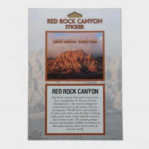 Sticker Red Rock Canyon NCA for Passport