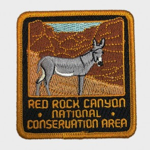 Red Rock Canyon Burro Embroidered Patch