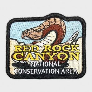 Red Rock Canyon Rattlesnake Embroidered Patch