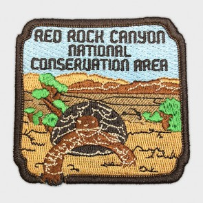 Red Rock Canyon Tortoise Embroidered Patch