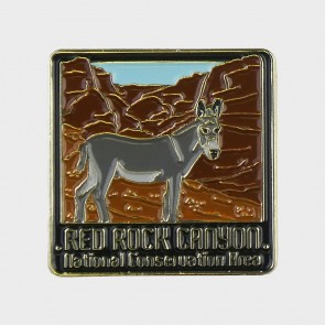 Red Rock Canyon Burro Lapel Pin