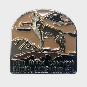 Red Rock Canyon Coyote Lapel Pin