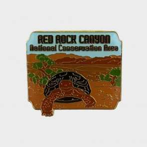 Red Rock Canyon Tortoise Lapel Pin