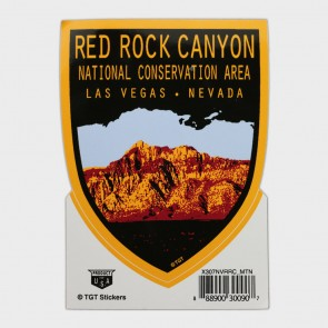Decal Red Rock Canyon Mountain Shield