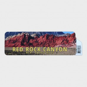 Decal Red Rock Scene Rectangle